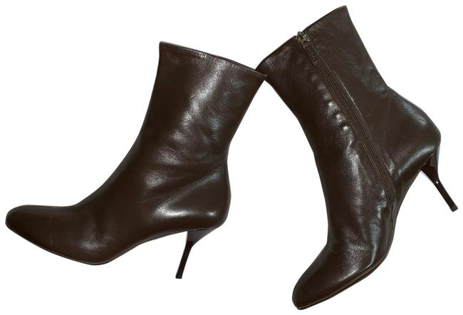 Item - Leather Zip Leather Boots/Booties Size EU 37 (Approx. US 7) Regular (M, B)