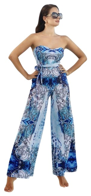 Item - Blue Coco Jumpsuit Cover-up/Sarong Size 12 (L)