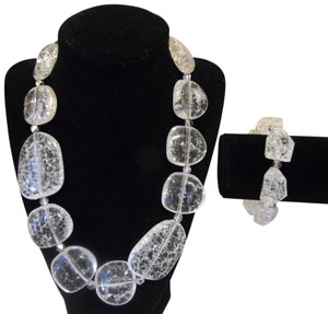 """R.J. Graziano R. J. Graziano """"Clear Ice"""" Necklace and Bracelet Set"""
