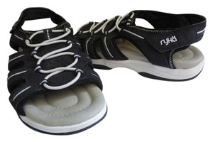 Ryka Mens Fishermans Grotto Sport New Black White Sandals