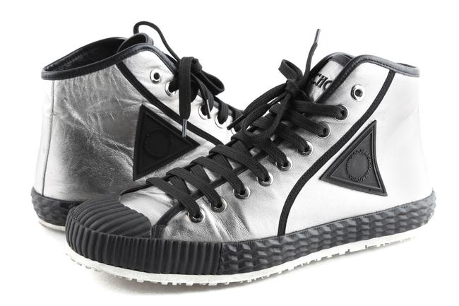 Item - Silver High Top Sneakers Shoes
