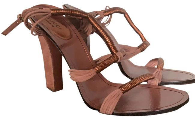 Item - Rose Gold Strappy Heels Formal Shoes Size EU 39.5 (Approx. US 9.5) Regular (M, B)