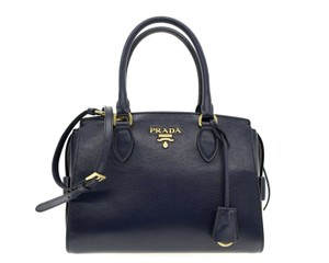 Prada Shoulder Satchel Handbag Top Handles Cross Body Bag