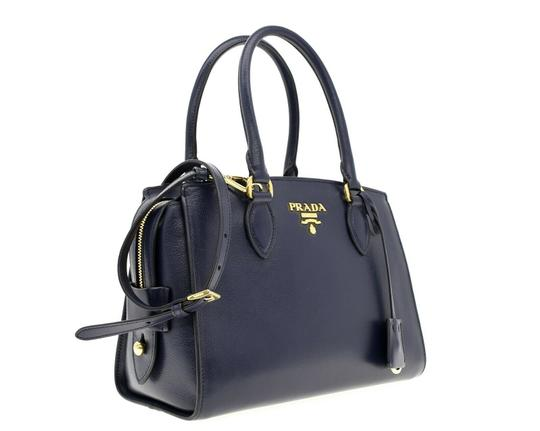 Prada Shoulder Satchel Handbag Top Handles Cross Body Bag Image 1