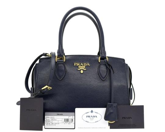 Prada Shoulder Satchel Handbag Top Handles Cross Body Bag Image 3