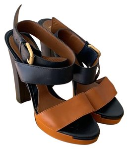 Fendi Black and Tan Platforms