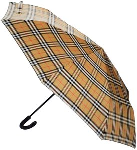 Burberry Beige black Burberry Vintage Check print umbrella