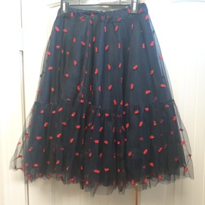P.A.R.O.S.H. Skirt Black with red details