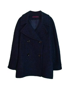 MARTIN GRANT Mohair Wool Double Breasted Pea Coat