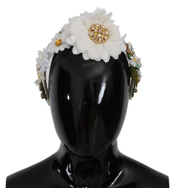Item - Multicolor D183 Women's Yellow White Sunflower Crystal Floral Headband Hair Accessory
