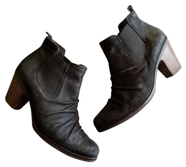Item - Black Jano Leather Scrunch Chelsea Ankle Boots/Booties Size US 7 Regular (M, B)