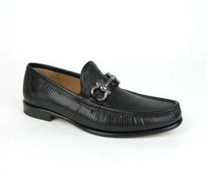 Salvatore Ferragamo Black W Men's Mason 3 Lizard Leather Loafer W/Horsebit 10.5d 0662526 Shoes