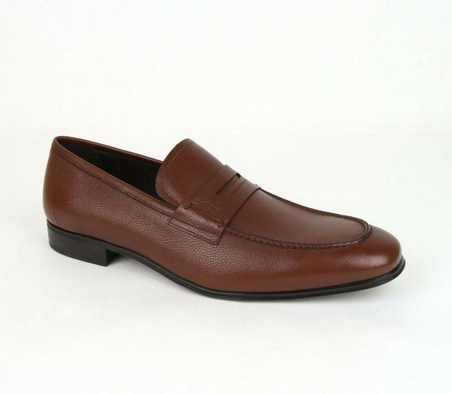 Item - Brown W Men's Fiorino 2 Leather Loafer W/Logo Imprint 9ee 0662342 Shoes