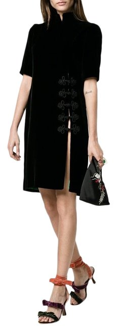 Item - Black 38 French Made In France Wool with Slit Short Formal Dress Size 8 (M)