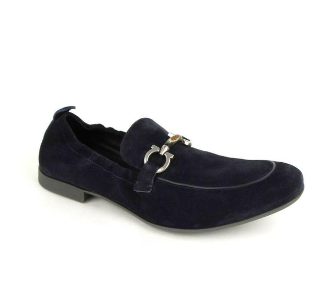 Item - Dark Blue Men's Celso Suede Stretch Horsebit Loafer 8d 0689525 Shoes
