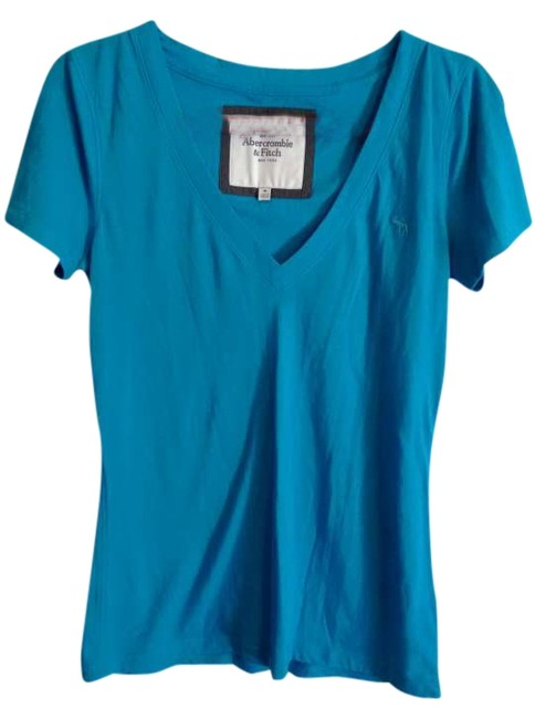 Abercrombie & Fitch T Shirt Teal Blue
