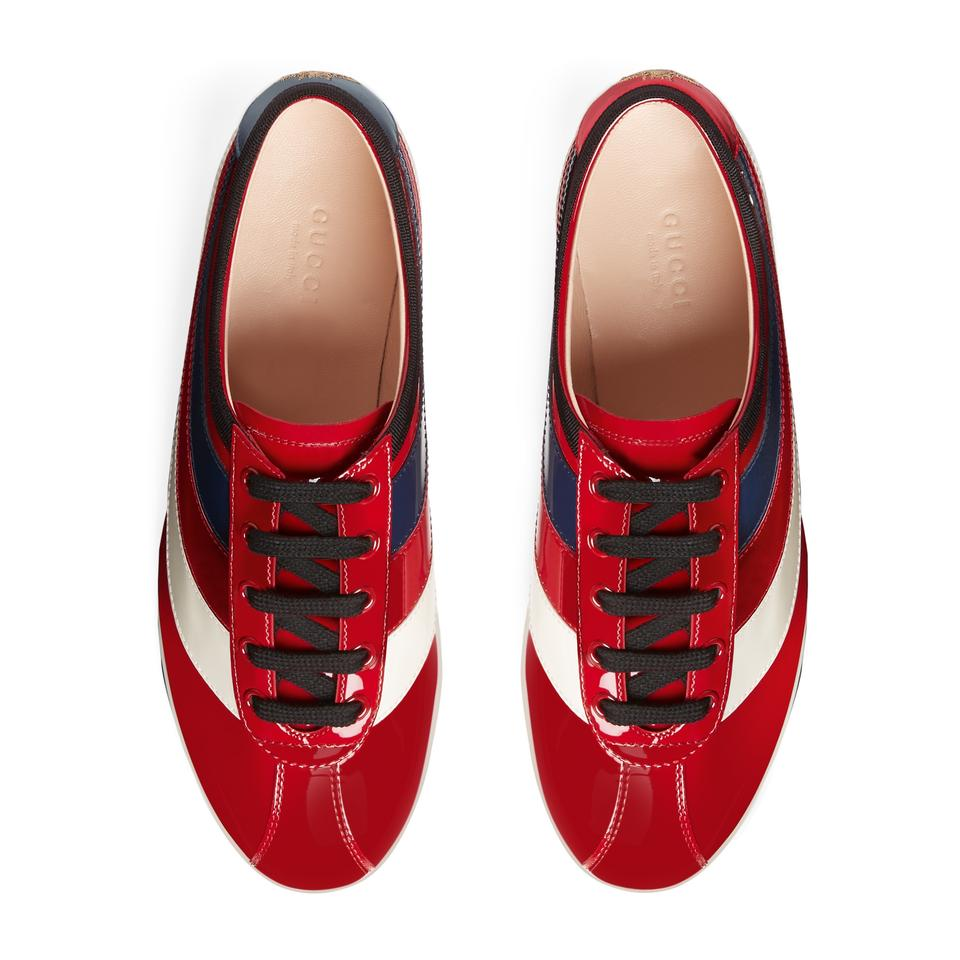 Detail Patent Leather Sneakers Flats