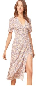Reformation short dress Multi-color Silk Floral on Tradesy