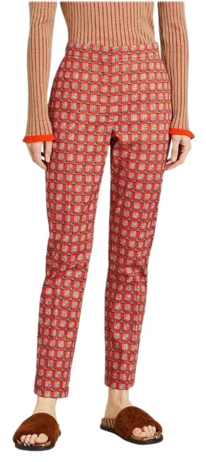 Item - Bright Red Ip Pat Hanover Cigarette 8002585 Pants Size 2 (XS, 26)