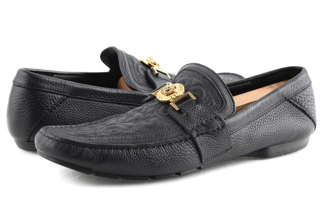 Item - Black Medusa Belt Loafers Shoes
