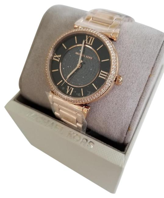Item - Rose Gold Tone Women's Catlin Crystal Black Dial Watch