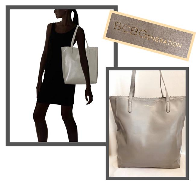"""Item - Wilson"""" Grey Faux Leather Tote"""
