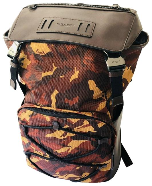 Item - Mens Unisex Terrain Large F 76786 Camo Camouflage Rust Brown Canvas Backpack