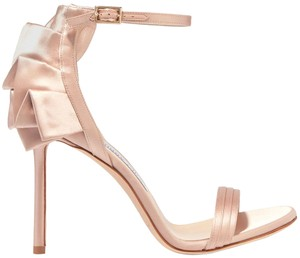 Jimmy Choo Wedding Bridal Satin Ruffle Dusty Rose Formal