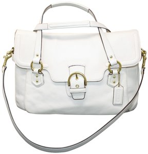 Coach Winter White Gold Hardware New With Tags Champagne Lining Extra Large Satchel in Ivory