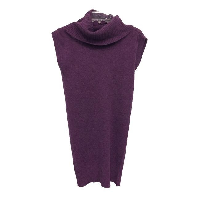 Item - Purple Cowl Neck Low Back Sweater Mid-length Work/Office Dress Size 6 (S)