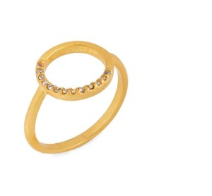 Madewell madewell luster circle pave ring size 8