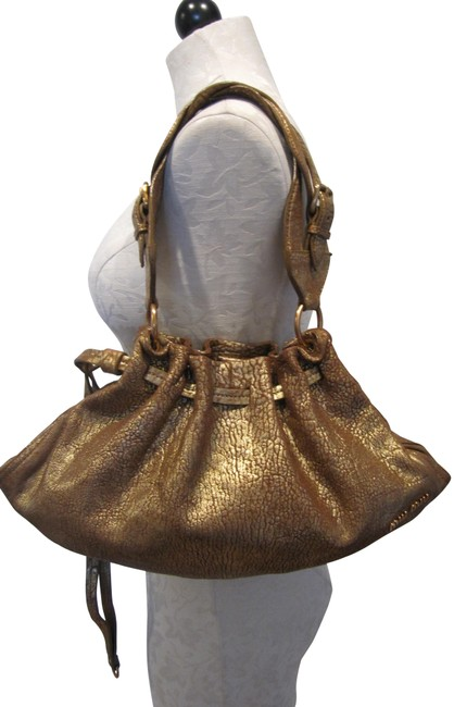 Item - Gold Leather Satchel