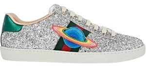 Gucci Glitter Ace Sneakers Sneakers Classics Silver Athletic