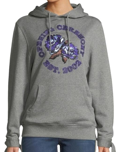 Item - Gray Embroidered Graphic. Activewear Outerwear Size 12 (L)