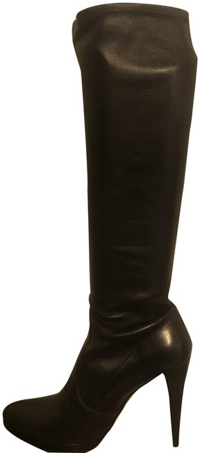 Item - Black Nappa Leather Knee High Boots/Booties Size US 9 Regular (M, B)