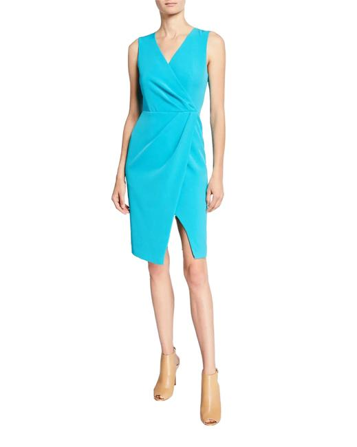 Item - Turquoise Nora Faux Wrap Sheath Short Night Out Dress Size 6 (S)