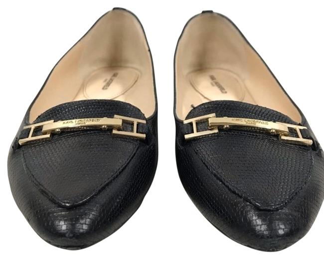 Item - Black Leather Loafers/ Flats Size US 7 Narrow (Aa, N)