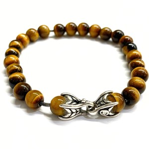 David Yurman GREAT CONDITION!! David Yurman Tiger Eye Spiritual Bead Bracelet with Wave Clasp