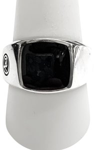 David Yurman GREAT CONDITION!! David Yurman Sterling Silver Black Onyx Signet Ring