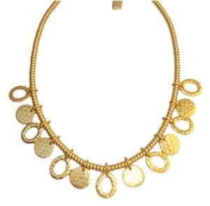 Ralph Lauren New! Lauren Ralph Lauren 'Golden Ticket' Hammered Charms Discs Beaded Necklace