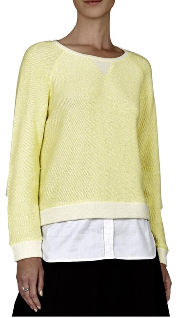 Item - Raven Lemon Yellow & White Sweater