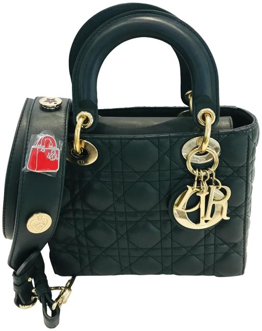 Item - My Lady Cannage Small Forest Green Leather Tote