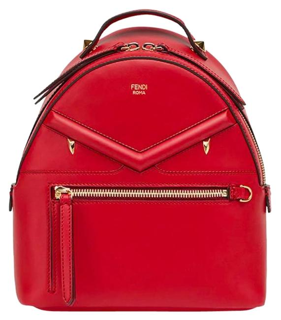 Item - Red Lambskin Leather Backpack