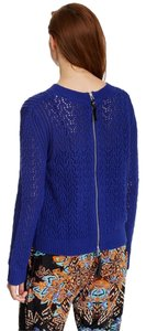 Twelfth St. by Cynthia Vincent Knit Zipper Leather Sweater