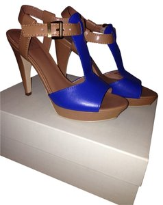 Ava & Aiden Cobalt Blue n Tan Sandals