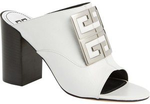 Givenchy 4g Slide Leather White Sandals