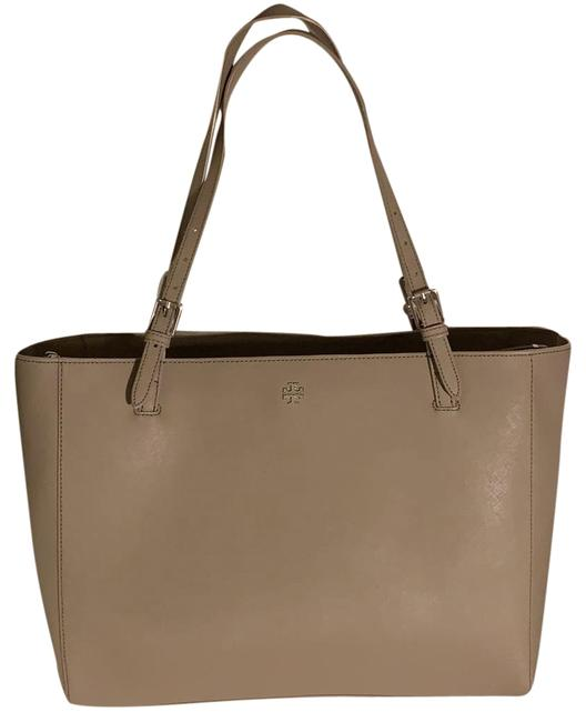 Item - York Buckle Grey Leather Tote