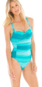 Bleu Rod Beattie Riding A Wave Bandeau One Piece Swimsuit