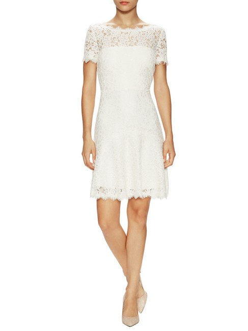 Item - Ivory Dvf Fifi Lace Fit and Flare Short Night Out Dress Size 6 (S)