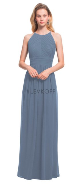 Item - Slate Chiffon 7017 Casual Bridesmaid/Mob Dress Size 0 (XS)